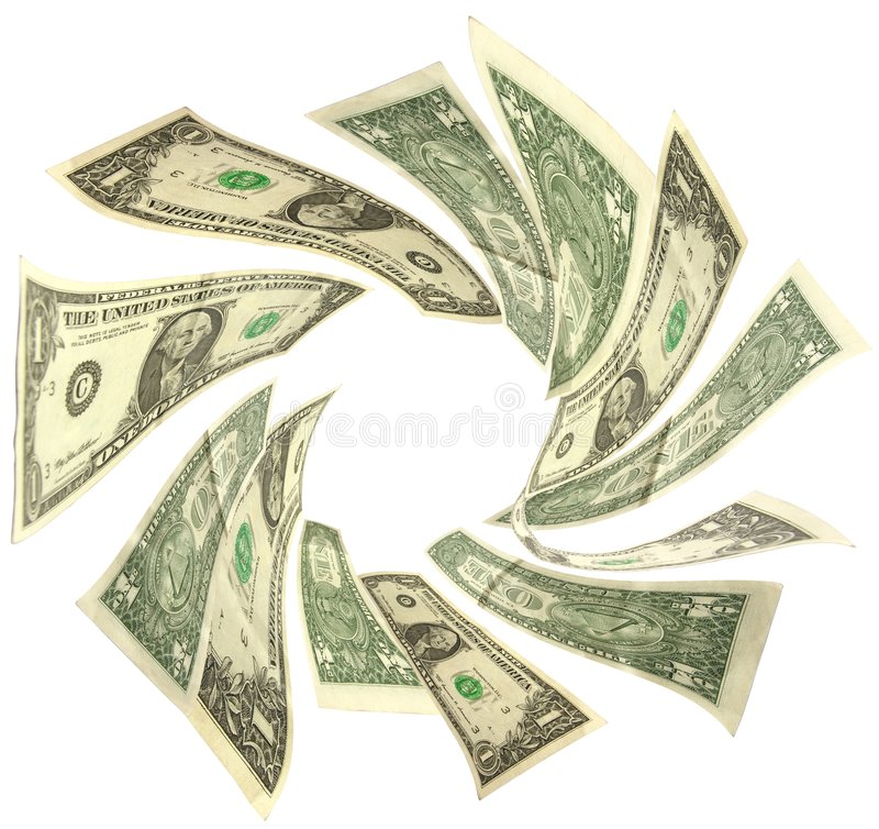Dollars vortex stock image