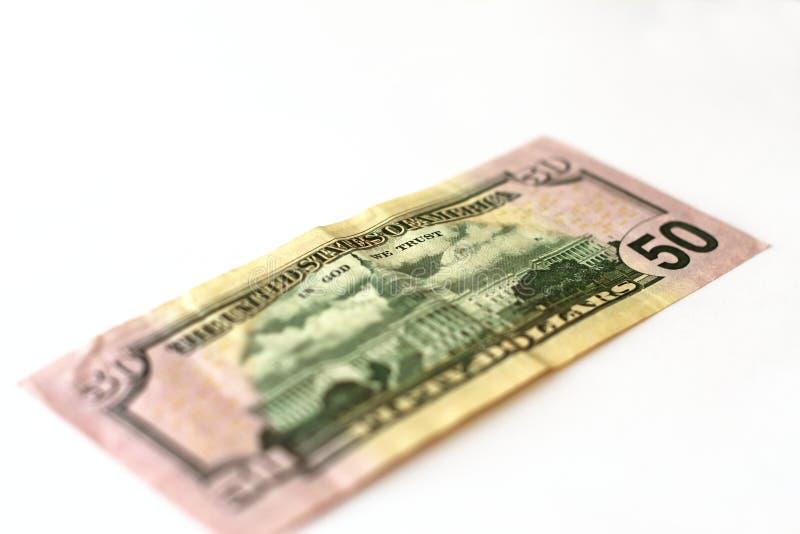 50 dollarsbankbiljet royalty-vrije stock afbeeldingen