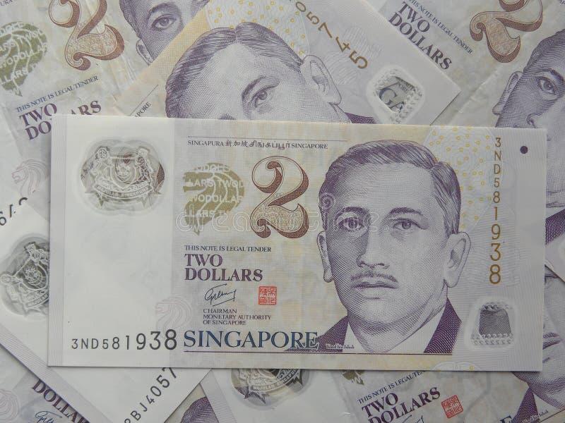 2 dollarsbankbiljet Singapore
