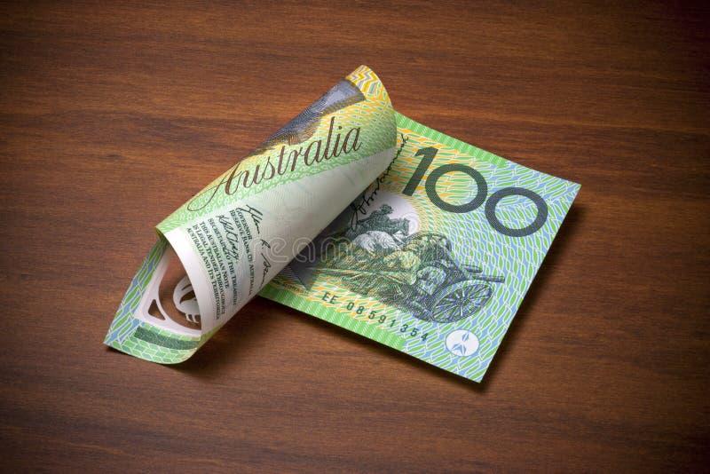Dollarschein des Australier-hundert lizenzfreies stockfoto