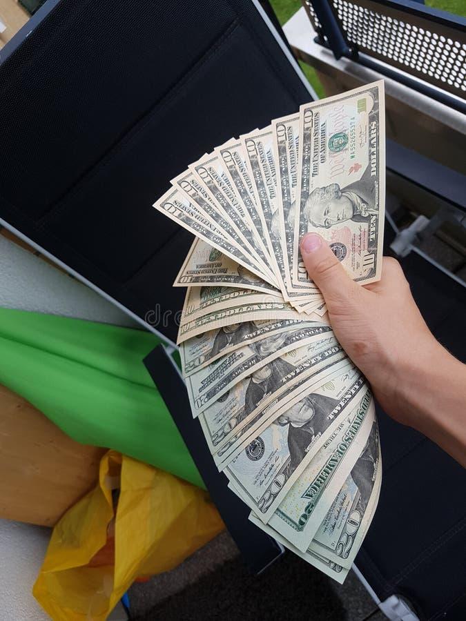 Dollarscheine stock fotografie