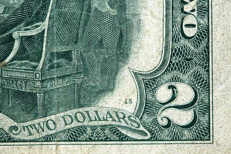 Dollarsedel för två USA royaltyfria bilder