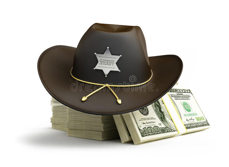 Dollarsheriffhut stock abbildung