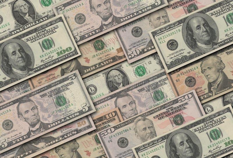 Dollarsinzameling royalty-vrije stock afbeelding