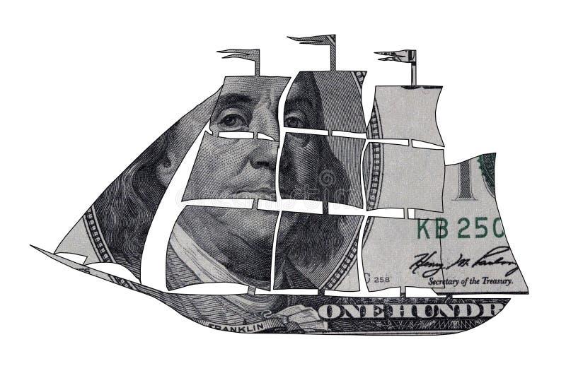 Dollarskepp arkivbild