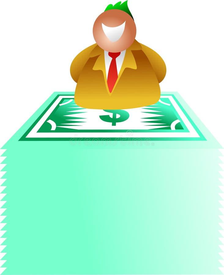 dollarstapel vektor illustrationer