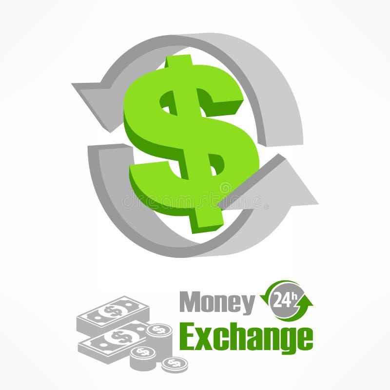 Dollarsymbol im Grün stock abbildung
