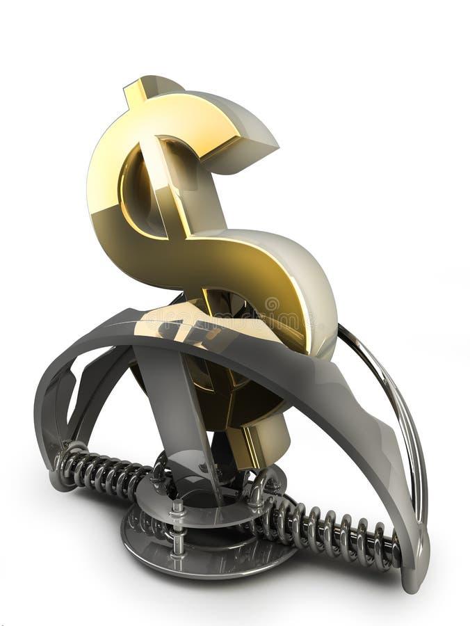dollarsymbolet blockerar oss royaltyfri illustrationer