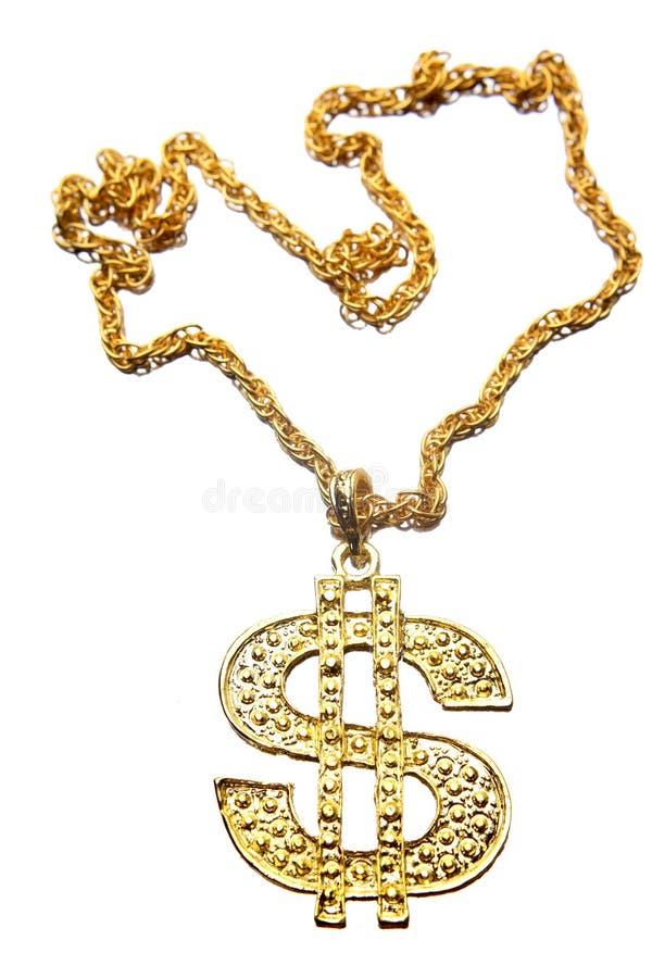 Dollarsymbolhalskette stockfoto