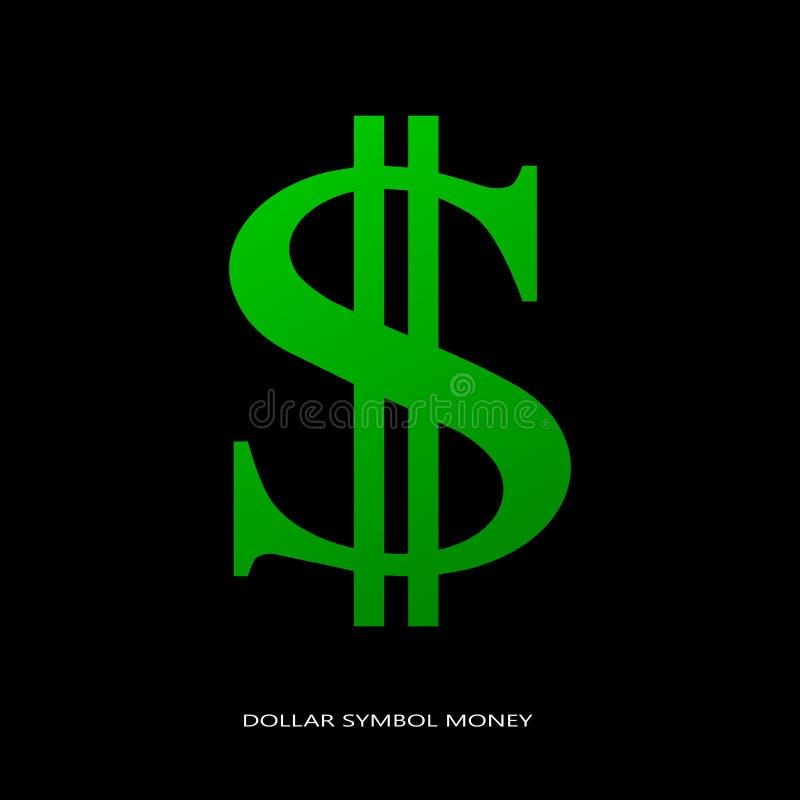 Dollarsymbolpengar vektor illustrationer