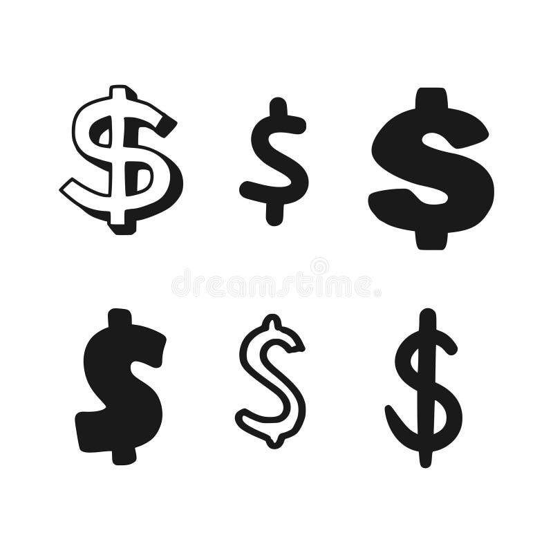 Dollartekens stock illustratie