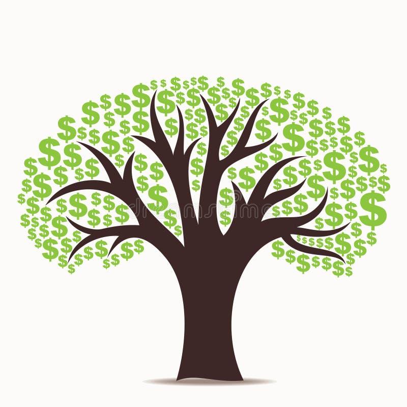 Dollarträd vektor illustrationer