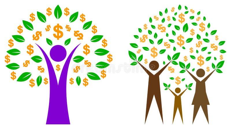 Dollarträd stock illustrationer