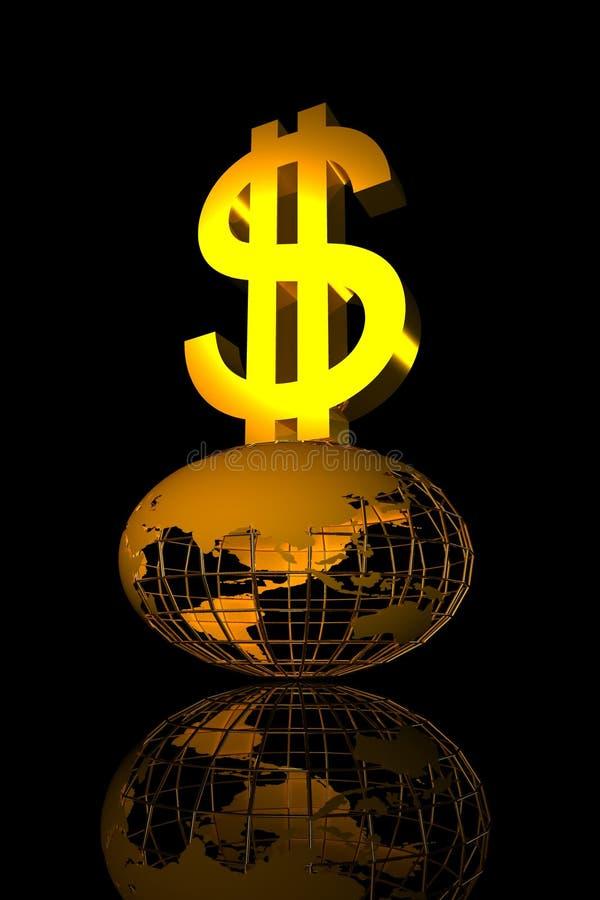 Dollarwelt lizenzfreie abbildung