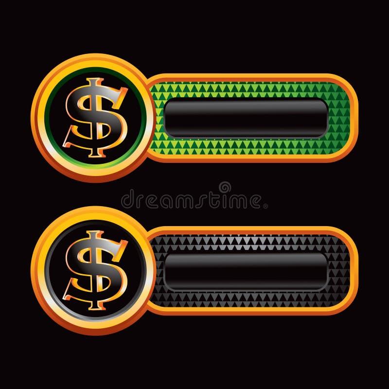 Dollarzeichen auf checkered Tabulatoren stock abbildung