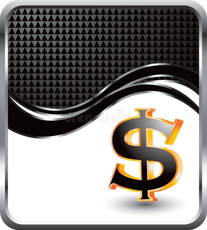 Dollarzeichen auf Wellenhintergrund stock abbildung