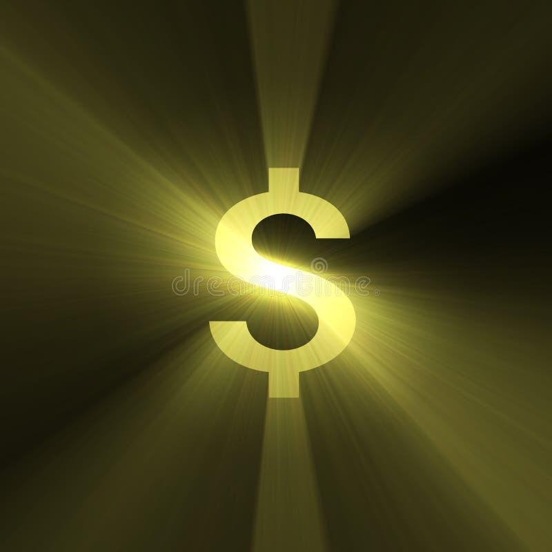 Dollarzeichen Dollaraufflackern stock abbildung