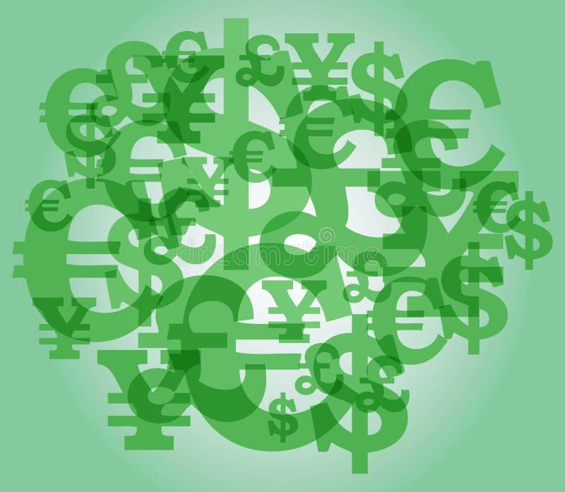 Dollarzeichenhintergrund stockfotografie