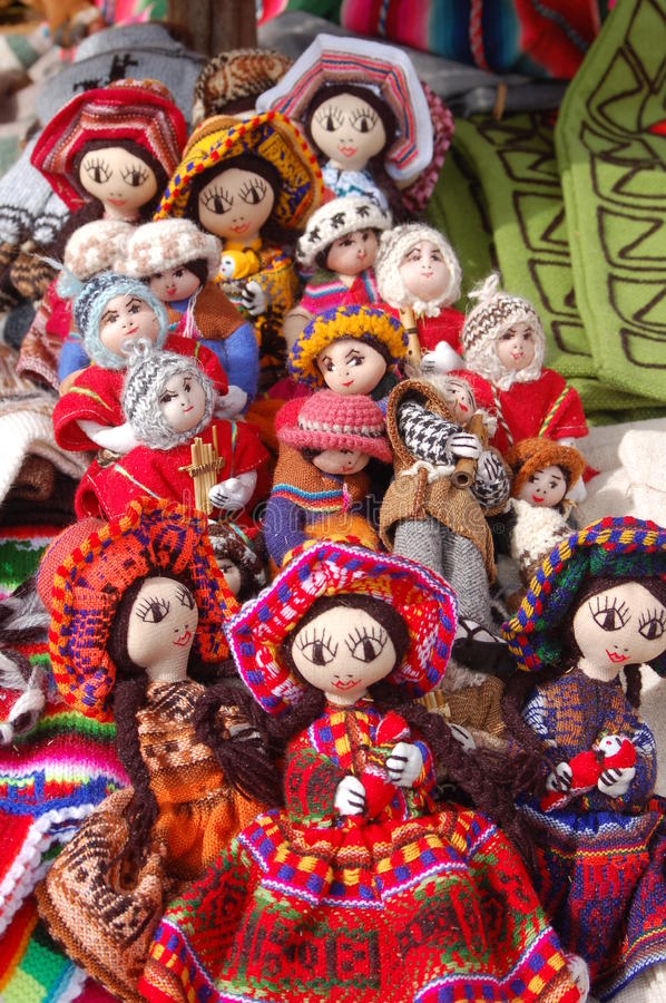 Download Dolls stock image. Image of taquile, peruvian, bonnet - 11777349