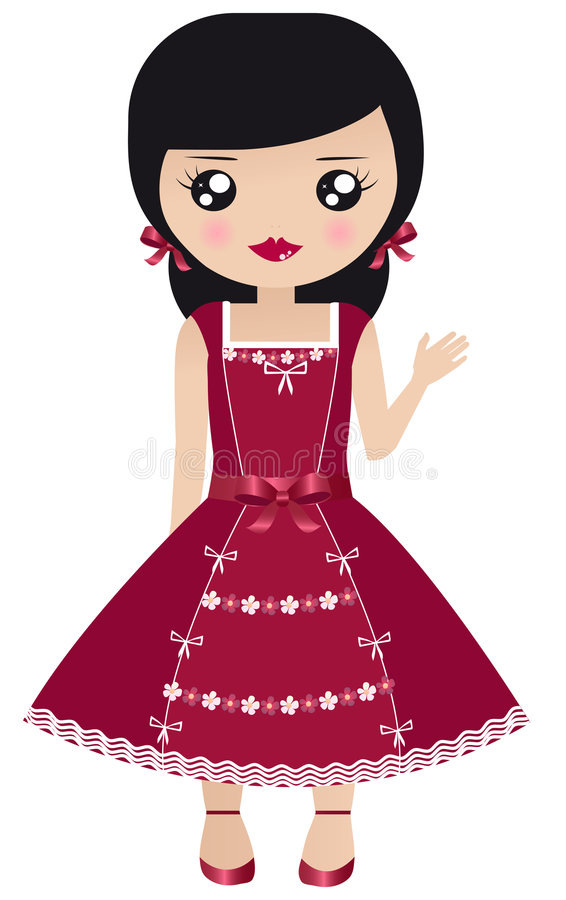 Dolls vector illustration