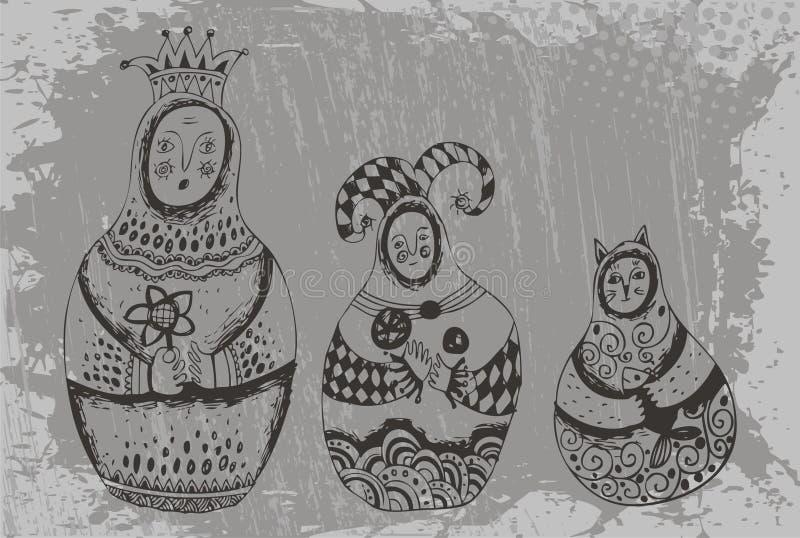 Download Dolls Babushka In Original Image Stock Vector - Image: 24695640