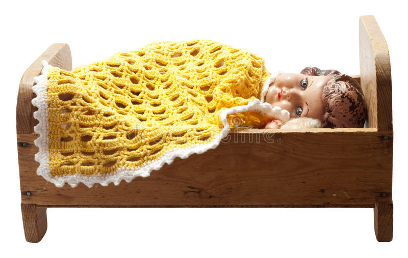 Download Dolls in bed stock image. Image of yellow, antique, sleep - 20530033