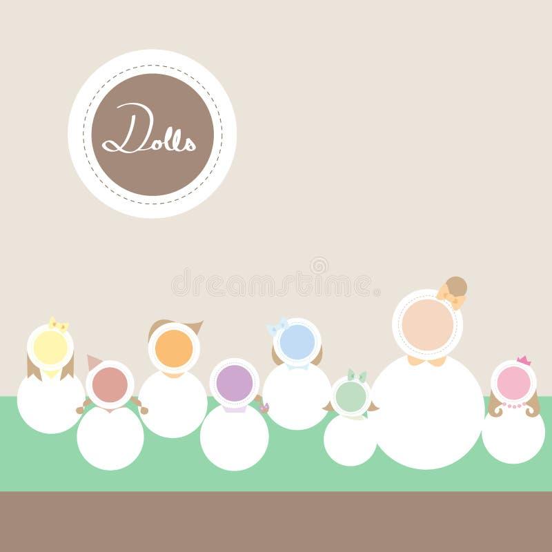 Download Dolls comunication stock illustration. Illustration of lovely - 31876687