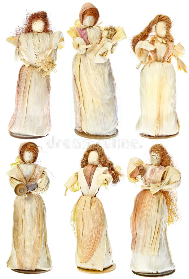 Dolls Made From Dried Corn Leaves Royalty Free Stock Photos