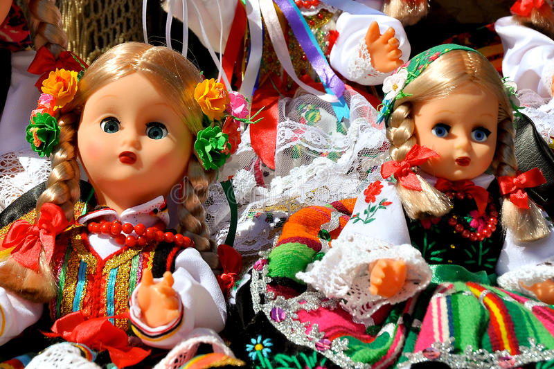 Dolls In Folk Costumes Stock Images