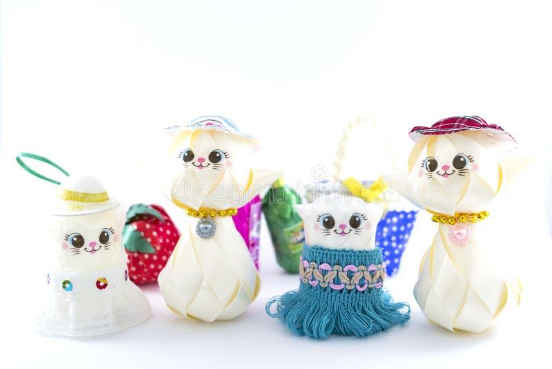 Dolls, handmade toys stock photos