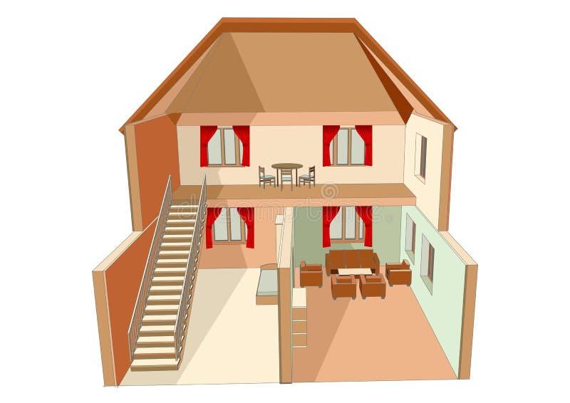 Dolls house isolated stock illustration