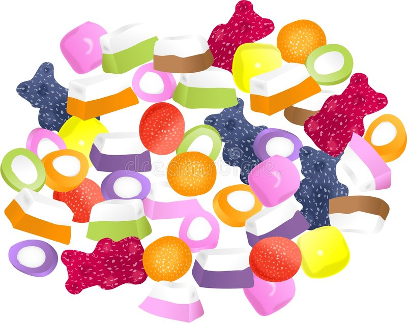 Dolly Mixtures stock illustration
