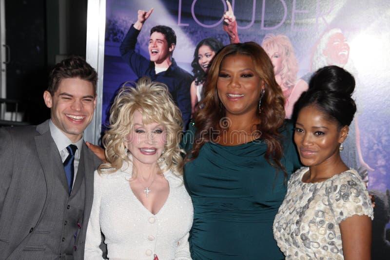 Dolly Parton, Jeremy Jordanië, Keke Palmer, Latifah, Koningin, Queen Latifah stock afbeelding
