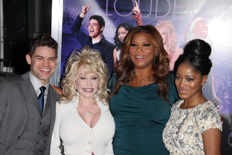 Dolly Parton, Jeremy Jordanie, Keke Palmer, Latifah, reine, Queen Latifah image stock