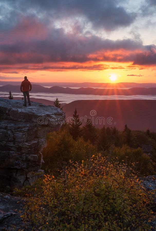 Dolly Sods Wilderness-Sonnenaufgang West Virginia lizenzfreie stockbilder