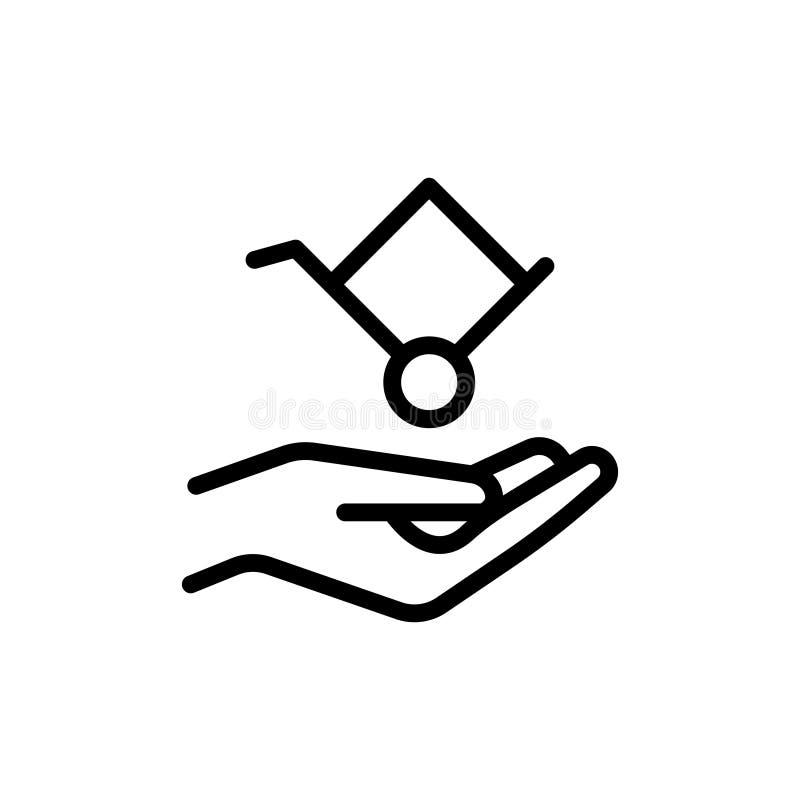 Dolly vlak pictogram royalty-vrije illustratie