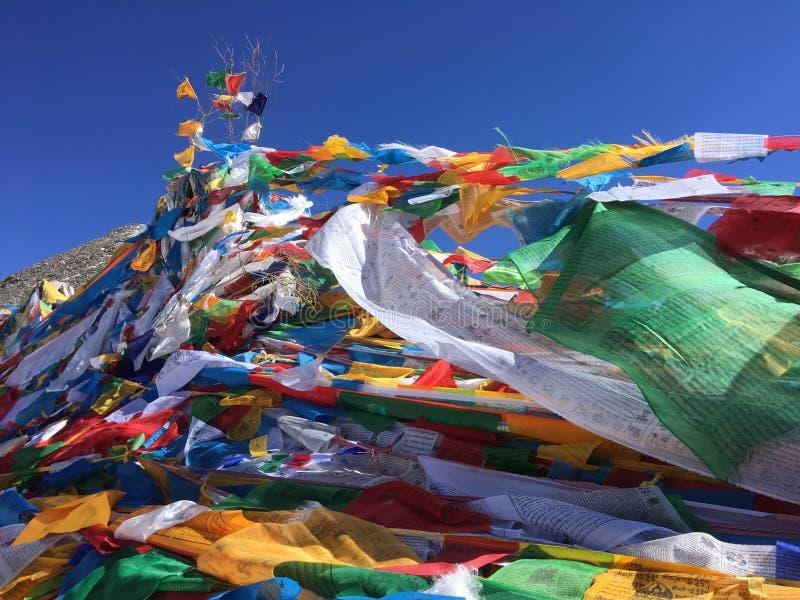 Dolma Lapasserande - montering Kailash Kora i vår i Tibet i Kina arkivbilder