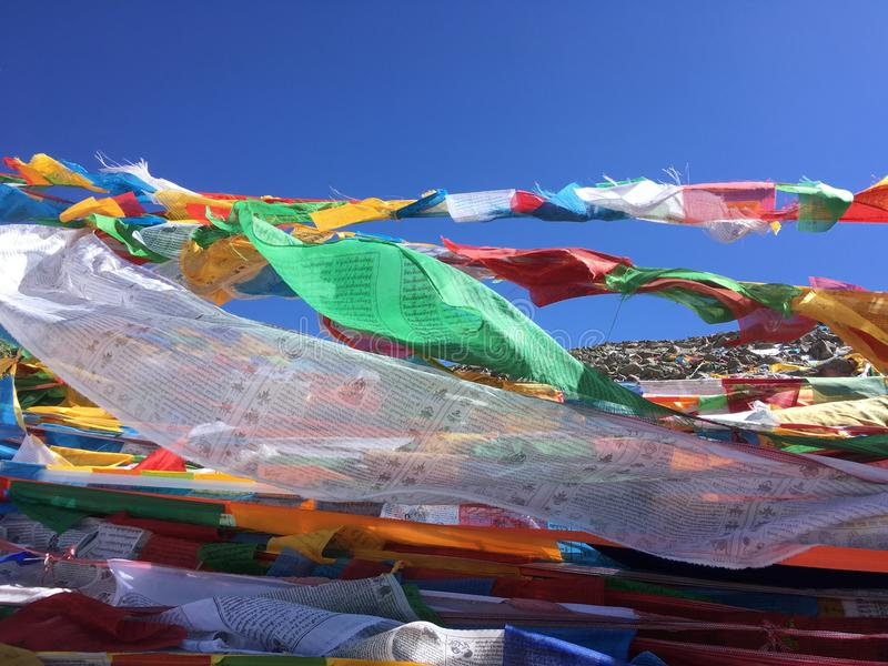 Dolma Lapasserande - montering Kailash Kora i vår i Tibet i Kina arkivfoton