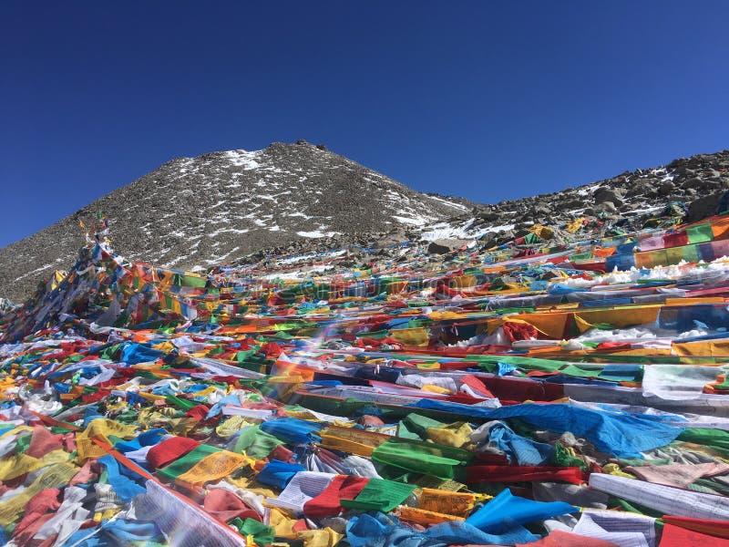 Dolma Lapasserande - montering Kailash Kora i vår i Tibet i Kina fotografering för bildbyråer
