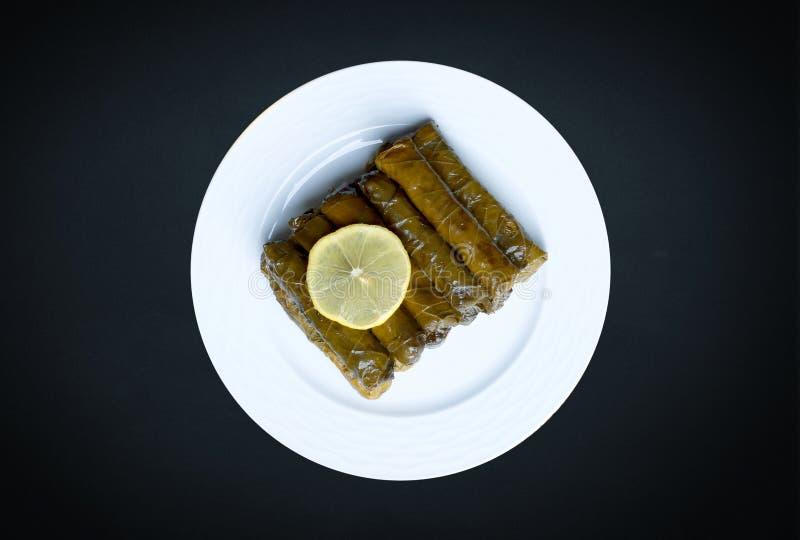 Dolma, uma variedade de pratos na culinária turca imagens de stock royalty free