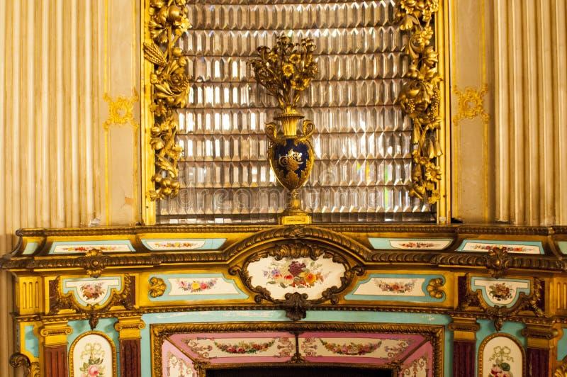 Dolmabahce宫殿内部,伊斯坦布尔 库存照片
