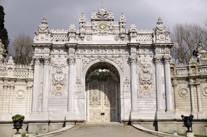 dolmabahce παλάτι πυλών στοκ φωτογραφίες με δικαίωμα ελεύθερης χρήσης