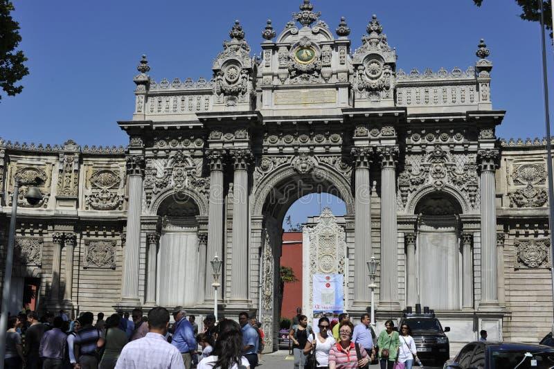 dolmabahce Istanbul pałac zdjęcie royalty free