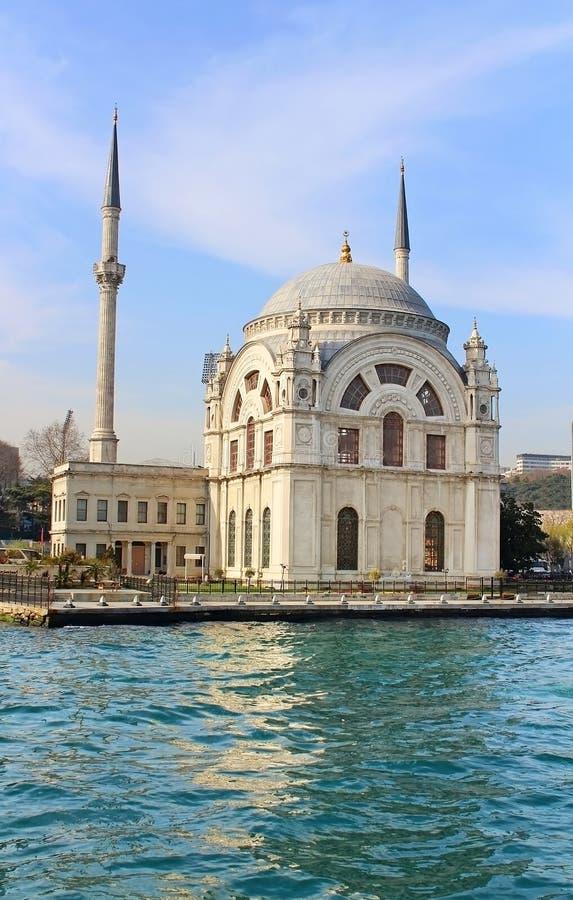 Dolmabahce-Moschee, Istanbul, die Türkei lizenzfreies stockbild