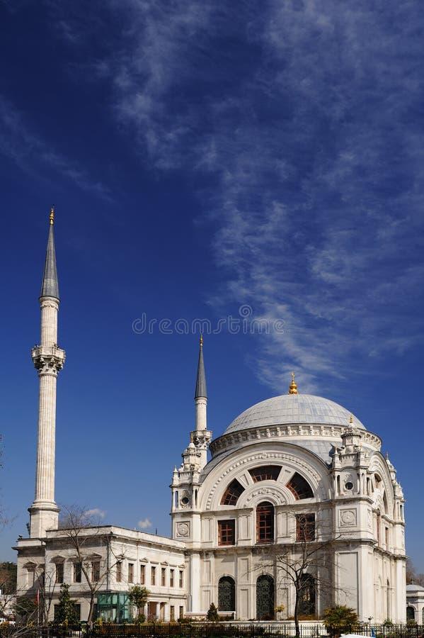 Dolmabahce Moschee in Istanbul, die Türkei stockbild