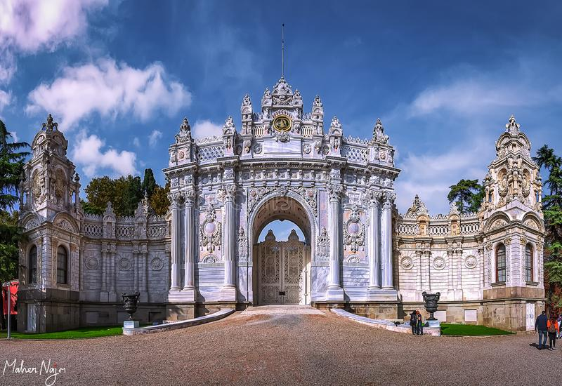Dolmabahce Palace stock photos
