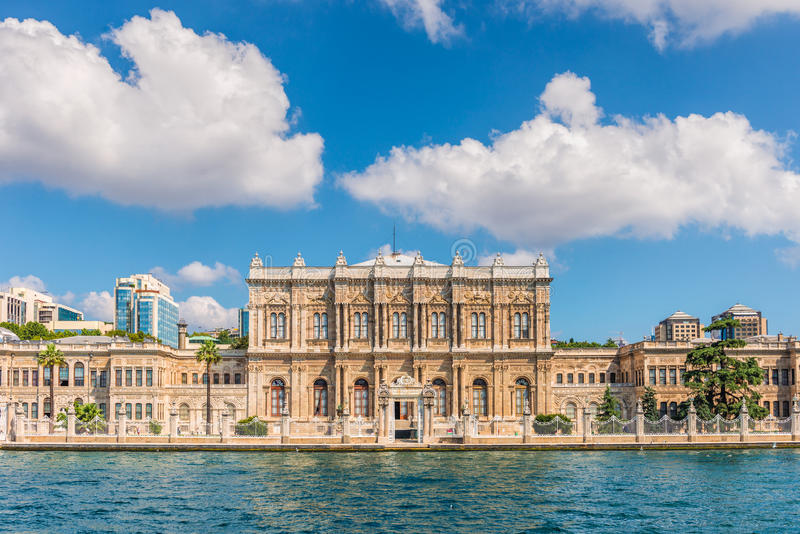 Dolmabahce Palace. On the banks of the Bosphorus in Istanbul royalty free stock photos