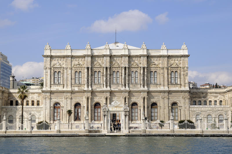 Dolmabahce Palace gate. In Besiktas, Istanbul stock photo