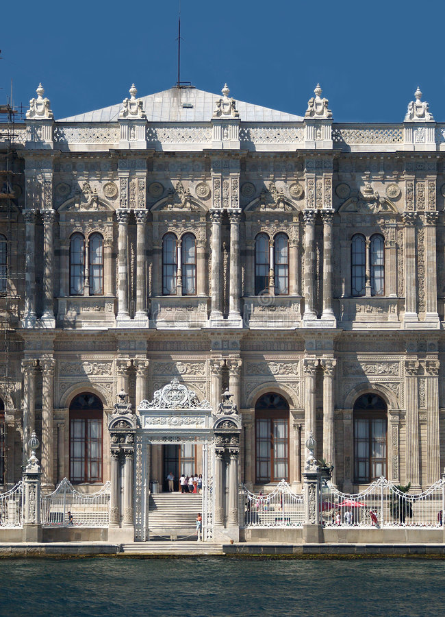 Dolmabahce palace in Istanbul. Turkey stock photo