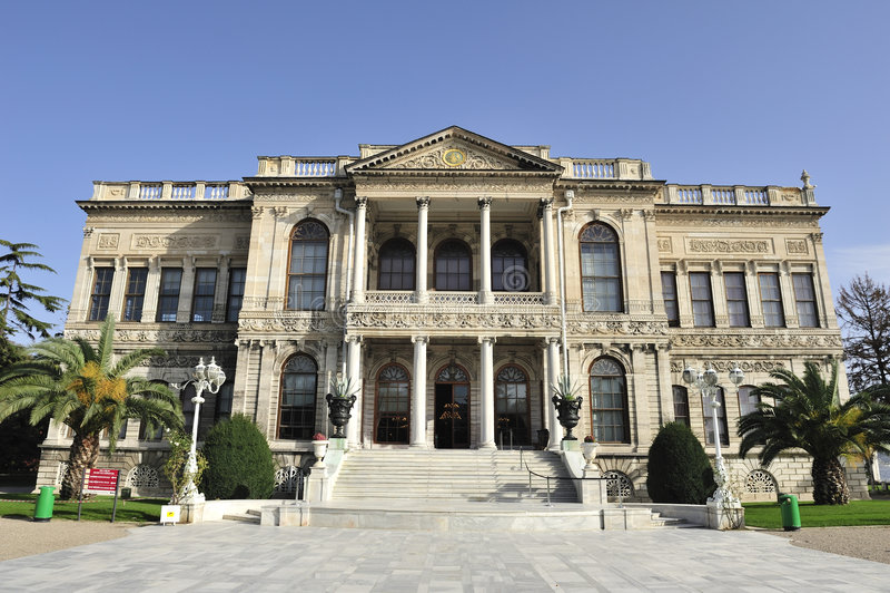 Dolmabahce Palast, Istanbul, die Türkei lizenzfreie stockfotografie